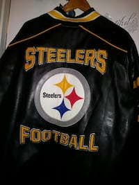 black Pittsburgh Steelers leather jacket Barstow, 92311