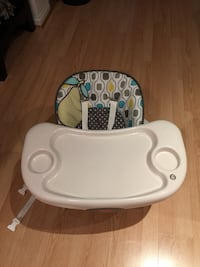 baby's white and blue high chair Burnaby, V5C 3Z6