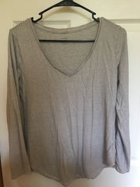 gray and white striped v-neck sweater Erie, 16509