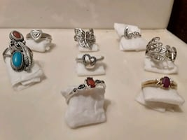 Real gold and silver rings