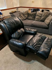 Two black leather reclining chairs Springfield, 22153