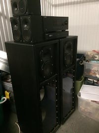 Black home theater system 120 watts