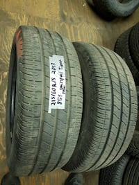 selling A set of two 215/60R15 all season UNIROYAL tires that have 85% tread  I can install these tires  Port Coquitlam