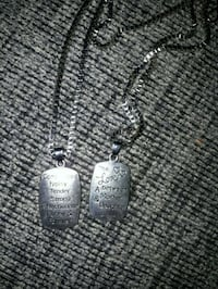 Double Sided mom daughter necklace