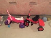 Two red, black and pink toy trikes Hamilton, L8J 0C3