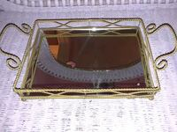 Gold Glass Perfume Table Kenner