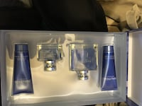 two Nautica soft tubes and perfume bottles