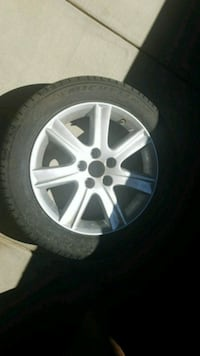 gray 5-spoke car wheel with tire Las Vegas, 89123