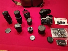 Old School Pentax Camera With 5 Lenses for sale  Waukee, IA