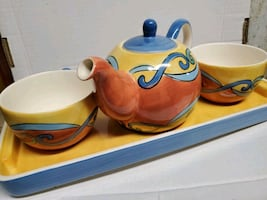 Pretty Brightly Styled Tea Set - Tea for Two