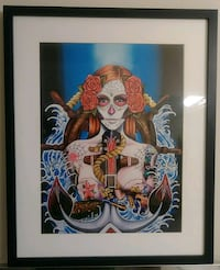 "Preowned Framed ""Reina Maria"" Art Print By Tattoo  Edmonton, T6X 1J9"