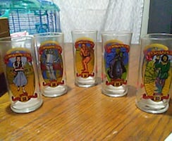 50th Anniversary Wizard of Oz set of cups okay.