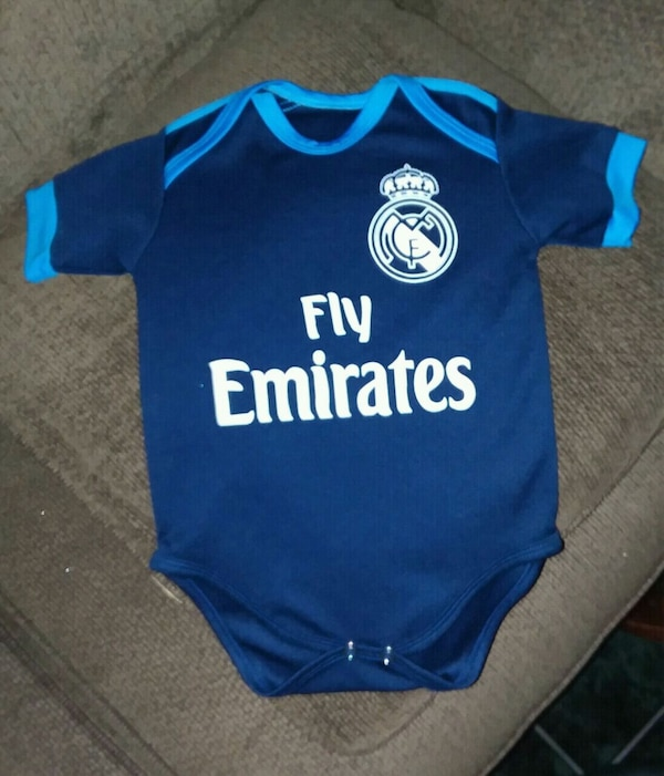 purchase cheap 1b08b 49860 Baby Clothes, Fly Emirates, Real Madrid Baby Soccer
