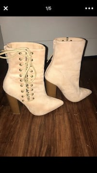 Faux suede booties Greensboro, 27405