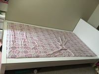 White town bed in good condition mattress is not included  New Westminster, V3M 1M4