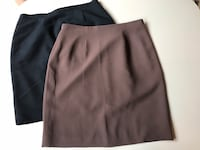 Two Women's Lined Skirts (black and brown) by Stanley Blacker and Laura Scott, Size 12/ above knee Farmington Hills, 48336