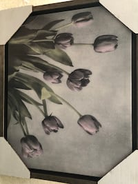 black and gray floral wall decor 1205 mi