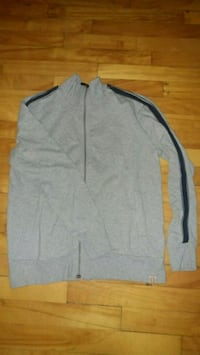Heather gray soft zip-up jacket cardigan sweater Montreal, H8T
