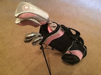 Pink Girls youth starter golf set 8-10 gently used Gainesville, 20155