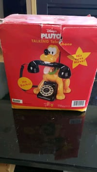 Pluto talking phone brand new box a bit damaged  Coquitlam, V3E 1J7