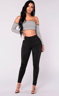 "Fashion Nova ""Smooth Operator"" Suede Leggings — Medium"