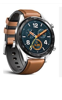 Huawei stainless steel watch with saddle brown bracelet . GT Ftn B19 Toronto, M1W