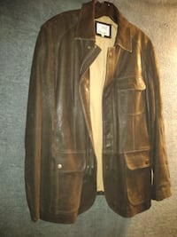 100% Real Brown Leather Jacket
