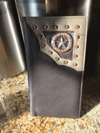 black and gray leather wallet Fontana, 92336