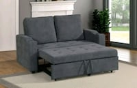 Brand New Charcoal Linen Sleeper Sofa  Silver Spring