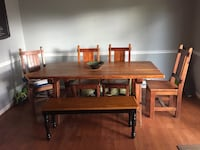 Farmhouse wooden 6-pc dining set Purcellville, 20132