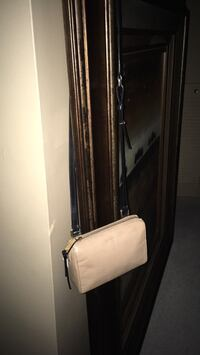 """Cole Haan NEW small women's Black and Tan leather crossbody bag tag still on paid 235   7 1/2""""w 6""""h Oakville, L6K 1Y8"""