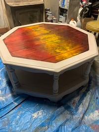 Colorful coffee table