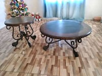 round black metal table with two chairs Riverside, 92509