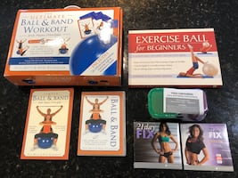 Exercise ball & Band Kit and 21 Day Fix Workout