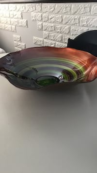 Stained glass bowl 16 1/2 inch diameter Laval, H7G 0J2