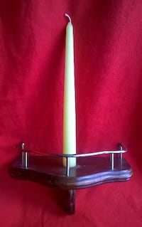 Candle & Wooden Wall Holder Oakdale