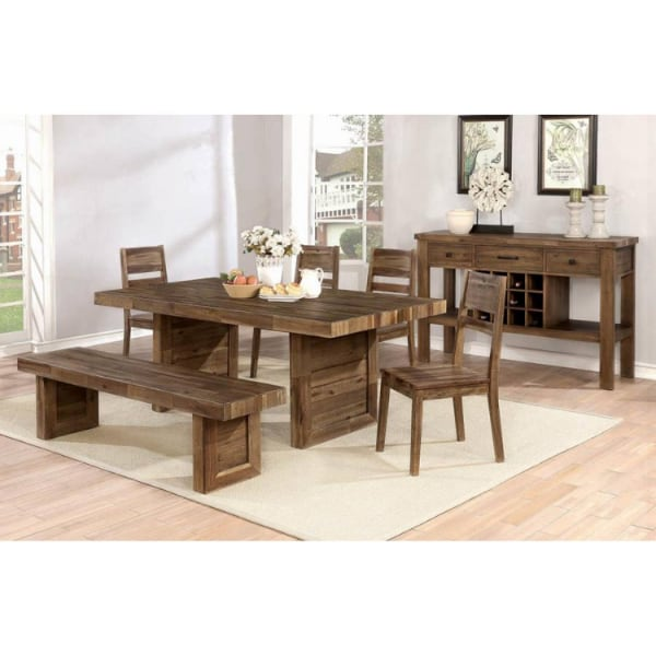 6PC SETS DINING TABLE + 4 CHAIRS + BENCH  - Brand New - Free Home Delivery SF bay area