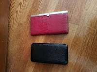 Black sequence & red snake print wallets Toronto, M6E