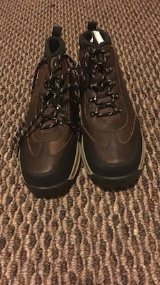 Pair of brown hiking boots size 4/12 kids