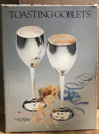 TOASTING GOBLETS C. 1981 MADE IN INDIA BY TOWLE SET OF 2  New Carrollton, 20784