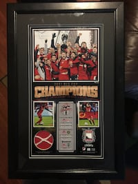 Toronto FC 2017 MLS Cup Ball/Ticket/Net 10x18 Fanatics Frame Toronto