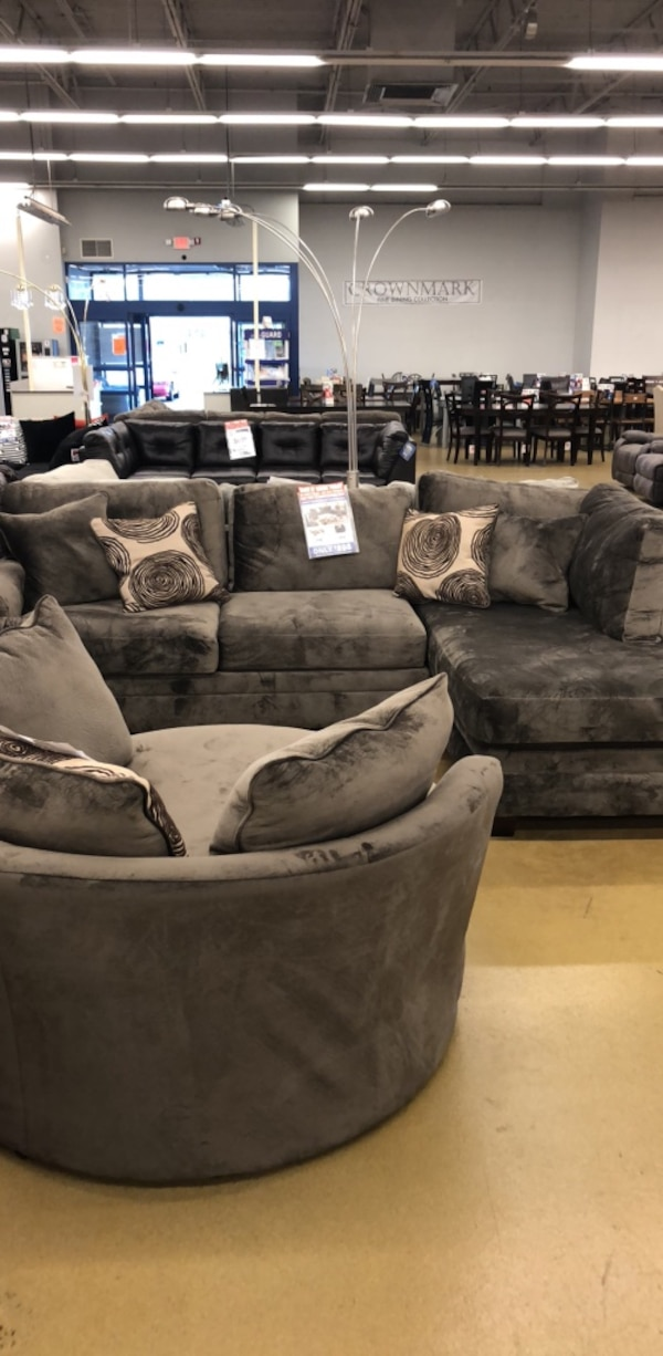 gray and black fabric sectional sofa