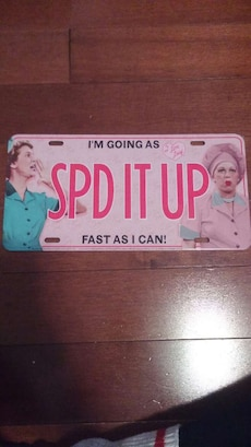 I Love Lucy License Plate
