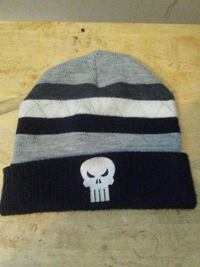 black and gray stripe knit cap Brantford, N3S 1Z5