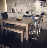 Designer Dining Set: Extendable Table, Bench & 2 Chairs Toronto, M2N 2W7