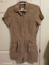 brown button-up shirt null