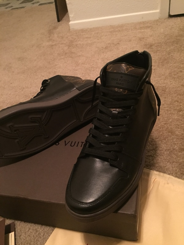 859e14b12ef6ff Used Louis Vuitton Monogram Lineup Sneaker Boot for sale in Houston - letgo