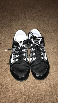 pair of black-and-white Nike running shoes Fresno, 93706