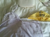 2 pottery barn toddler bath towels large.