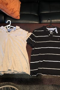 Beige and Black Tommy Polo's Medium $10 each  Toronto, M9N 3L4